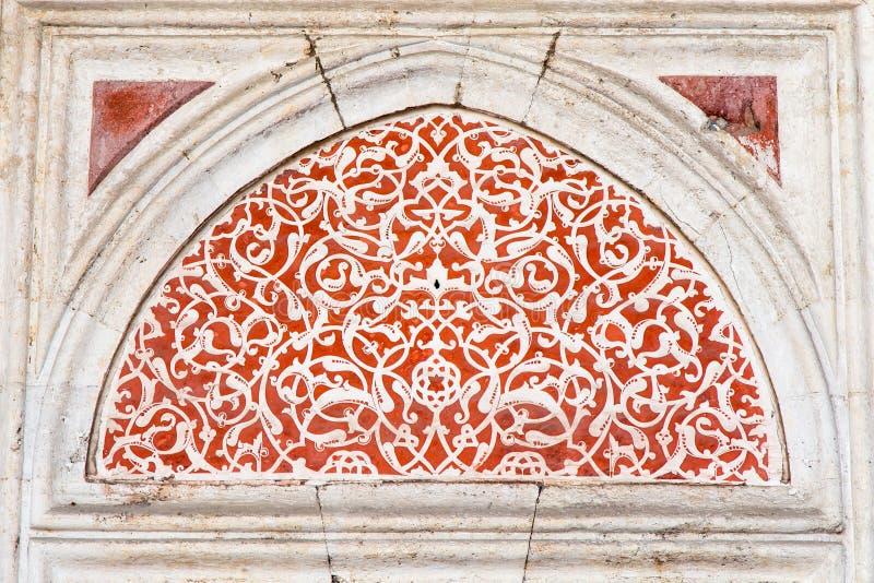 Deurdecoratie royalty-vrije stock afbeelding