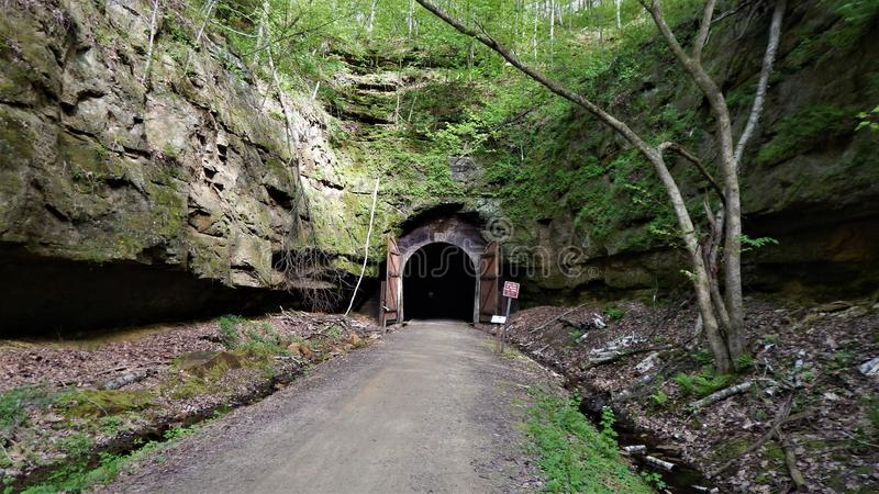 Deuropening in Wilton Tunnel stock foto's
