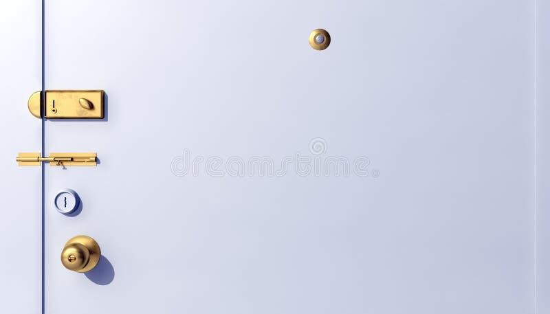 Deursloten vector illustratie