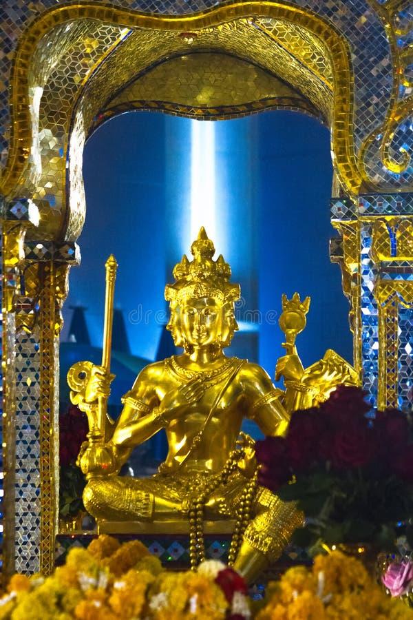 Deus Brahma no santuário de Erawan, Banguecoque fotografia de stock royalty free