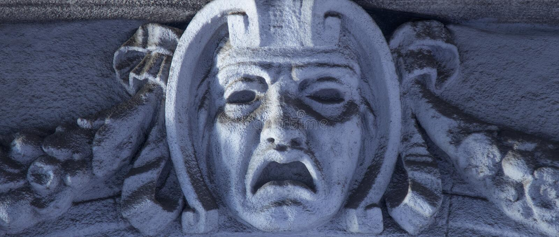Deus da mitologia grega dos phobos do medo fotografia de stock