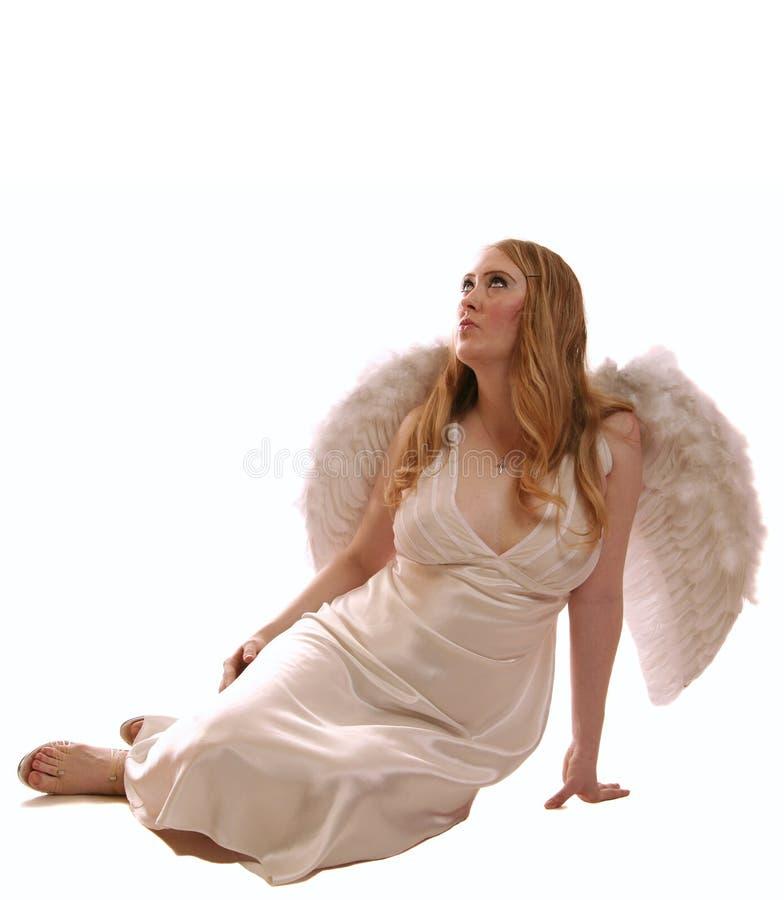 Deus de assento da face do anjo da deusa foto de stock royalty free