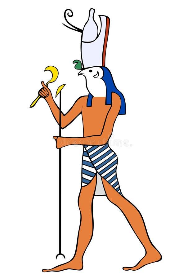 Deus de Egipto antigo - Horus ilustração royalty free