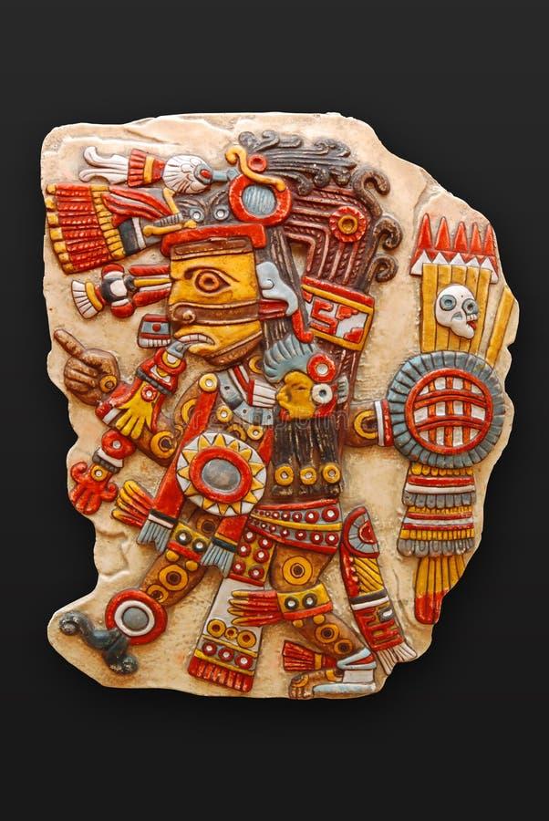 Deus de pedra Tezacatlipoca imagens de stock royalty free