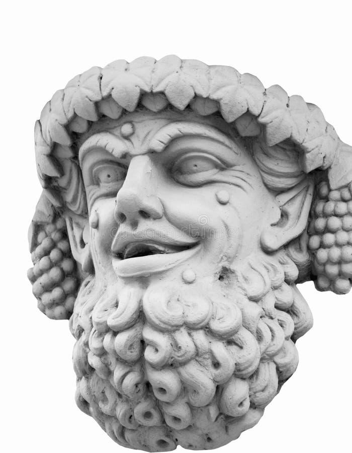 Deus Dionysus (grego - Dyonys, Dionysus, Lat. Baco) imagens de stock