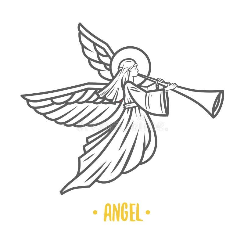 Deus do anjo Ilustração do vetor fotos de stock royalty free