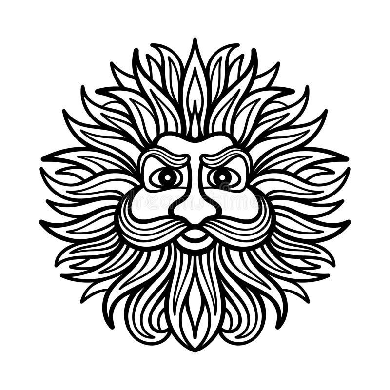Deus do vento ilustração do vetor
