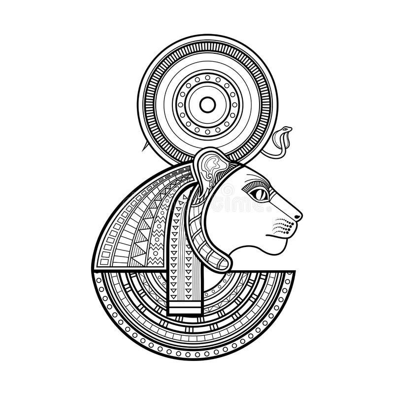 Deus do vetor de Egito antigo ilustração royalty free