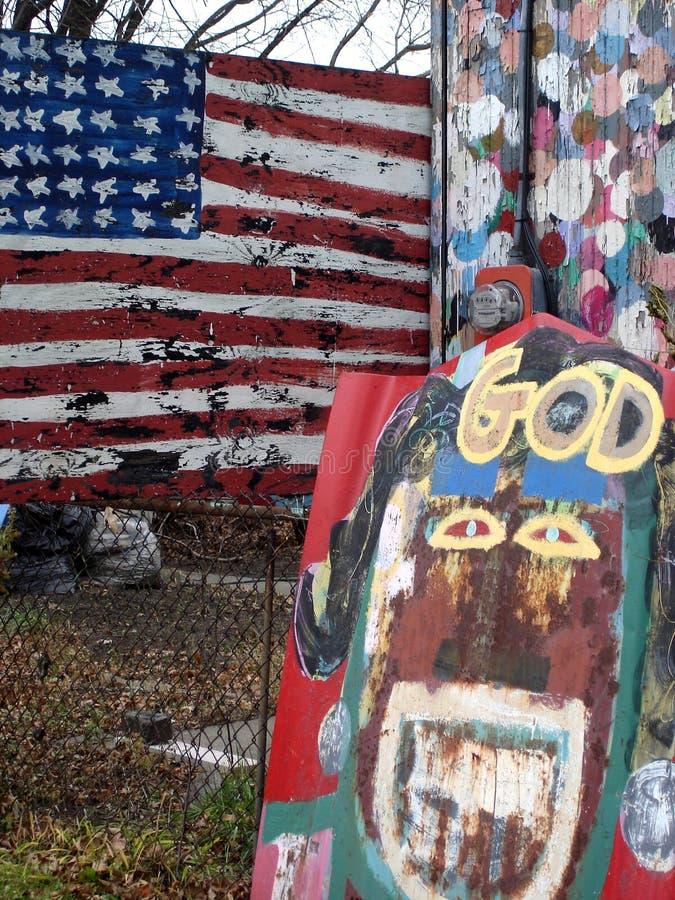 Deus e América imagens de stock