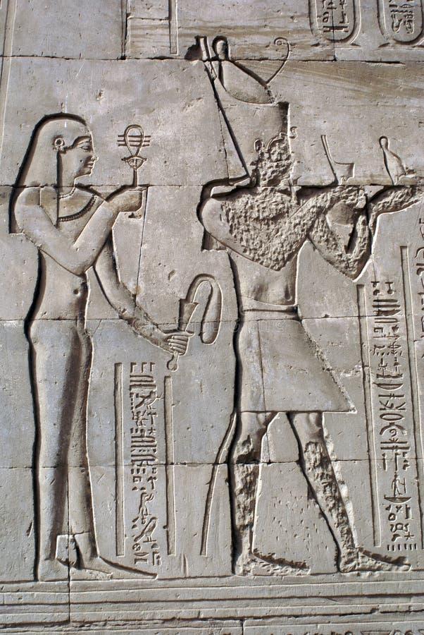 Deus e pharaon fotografia de stock