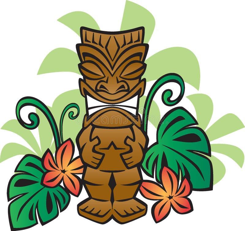 Deus exótico de Tiki ilustração do vetor