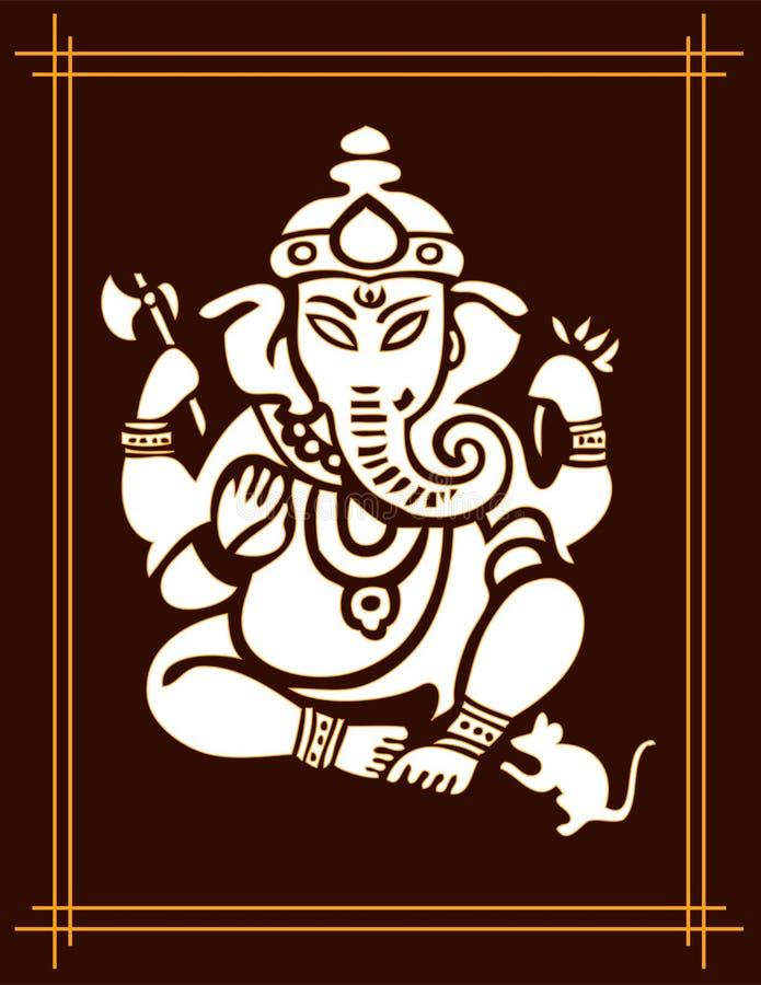 Deus Ganesha ilustração royalty free