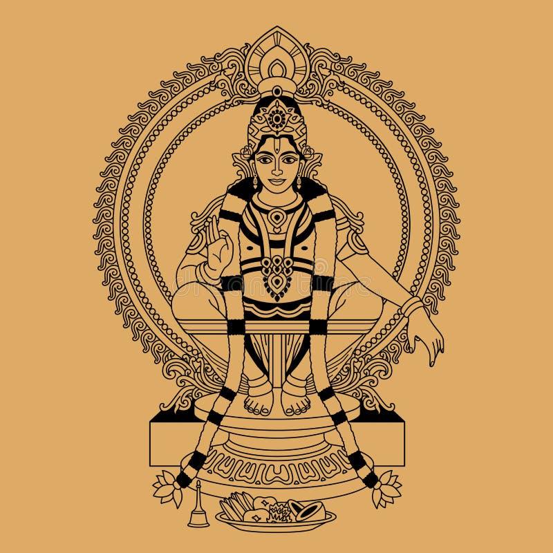 Deus Hindu ilustração stock