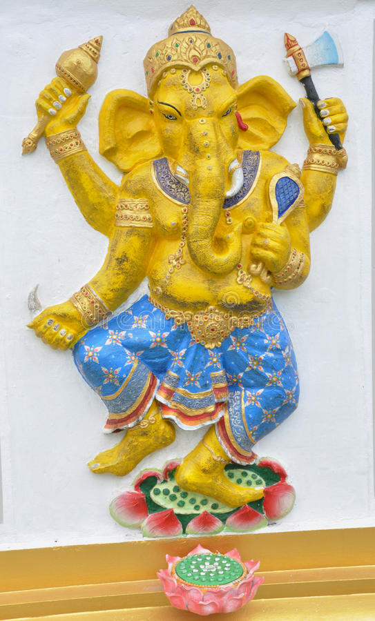 Deus Hindu do ganesha fotografia de stock
