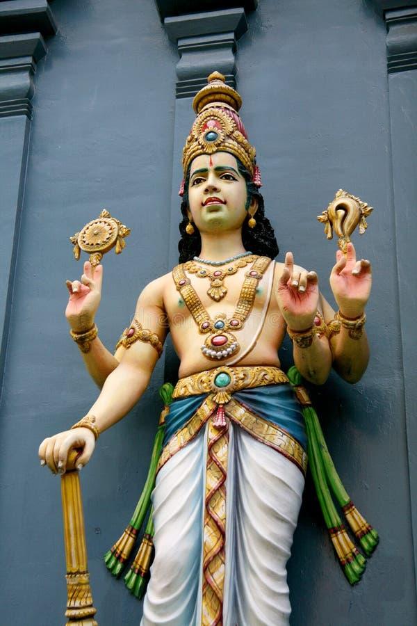 Deus Hindu - templo de Sri Srinivasa, Singapore foto de stock
