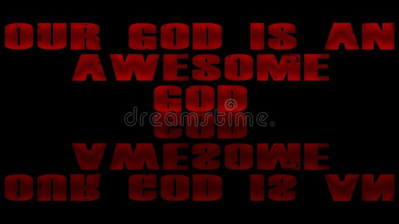 Deus impressionante no fundo preto ilustração royalty free