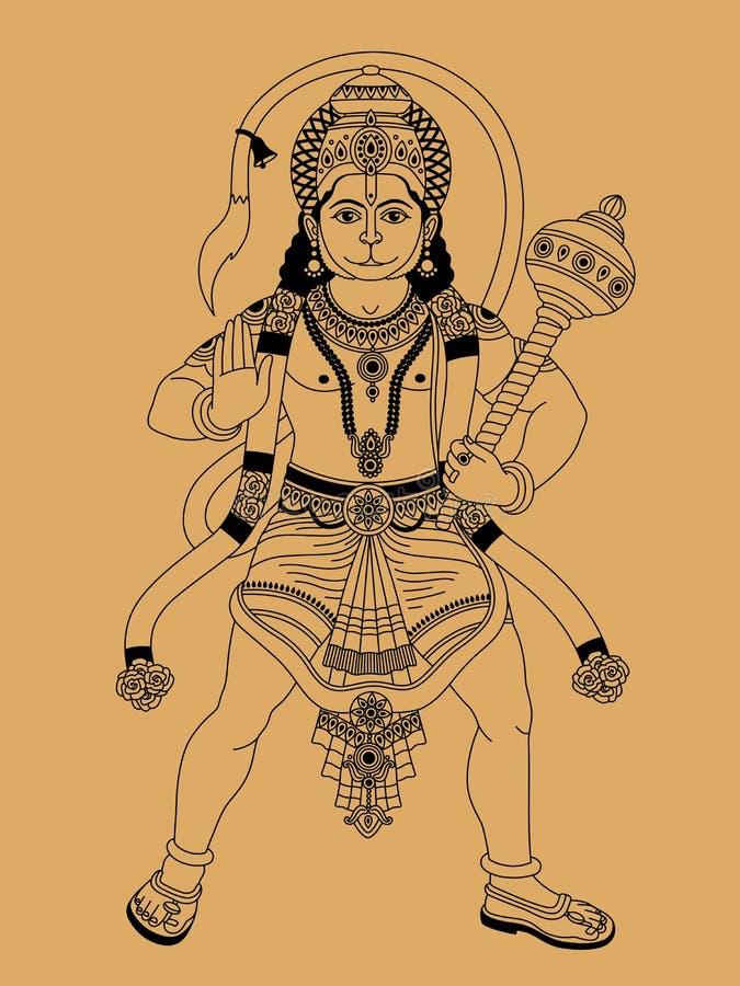 Deus indiano ilustração royalty free
