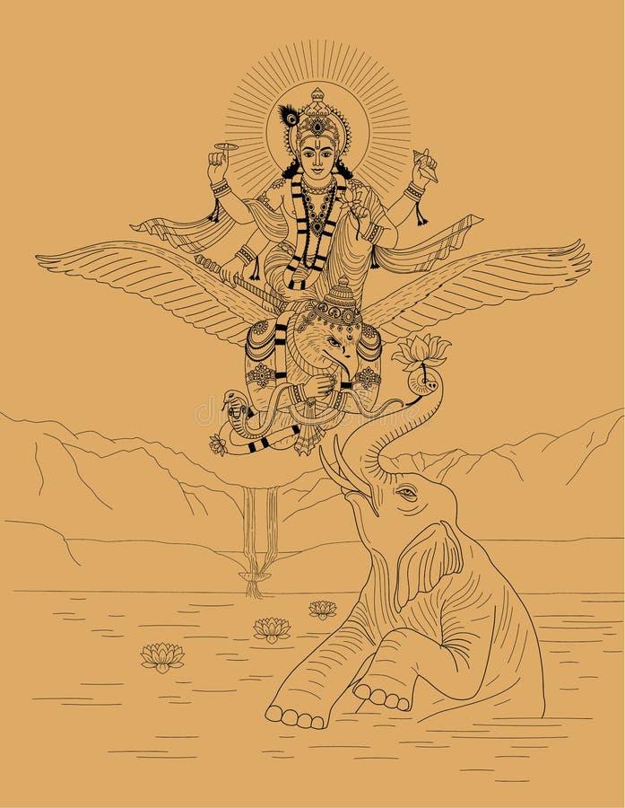 Deus indiano ilustração do vetor