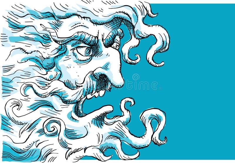 Deus irritado ilustração royalty free