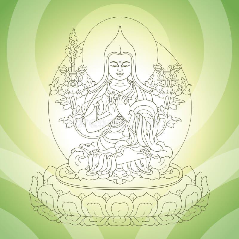 Deus oriental ilustração stock
