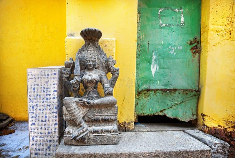 Deusa de pedra indiana fotografia de stock