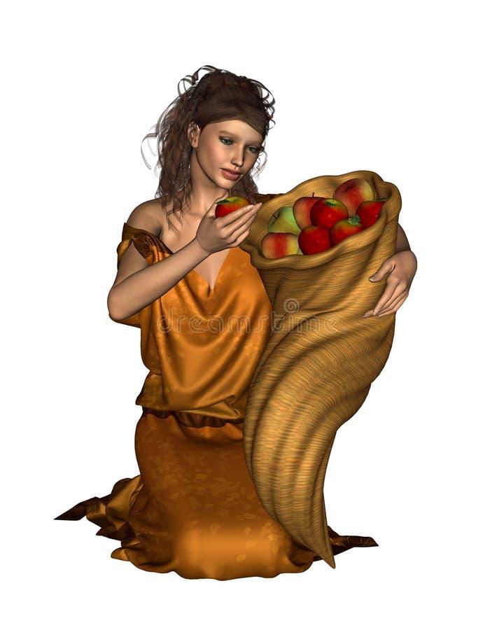 Deusa de Pomona do pomar ilustração royalty free