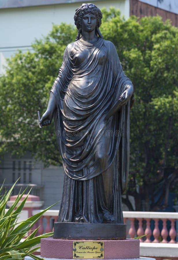 Deusa do Calliope da poesia épico imagens de stock royalty free