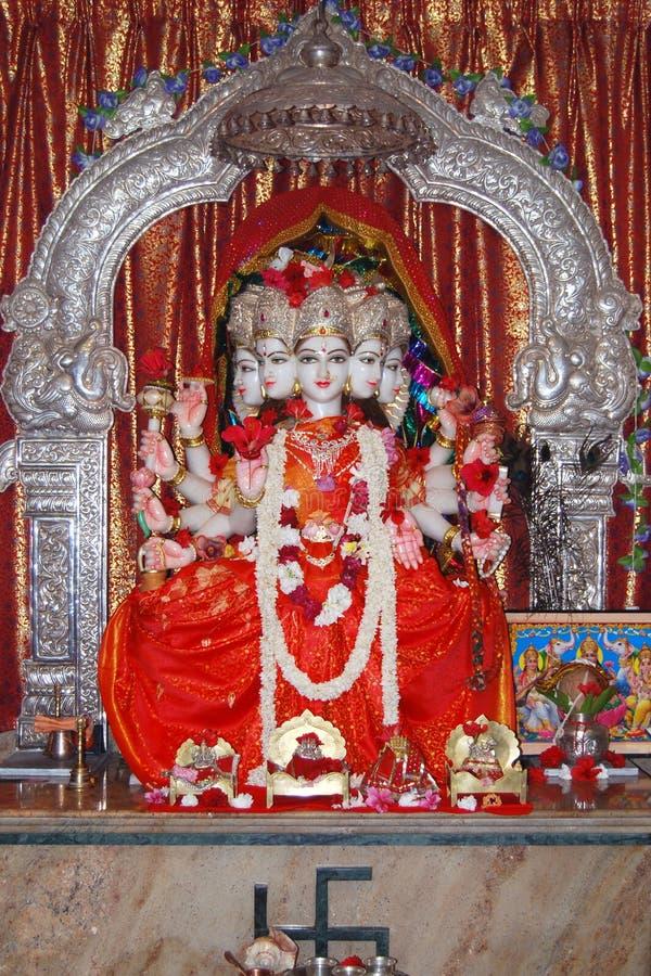 Deusa Durga na Índia de pedra de mármore foto de stock royalty free
