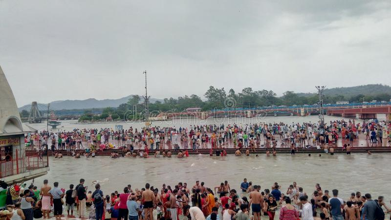 Deusa Ganga fotografia de stock royalty free