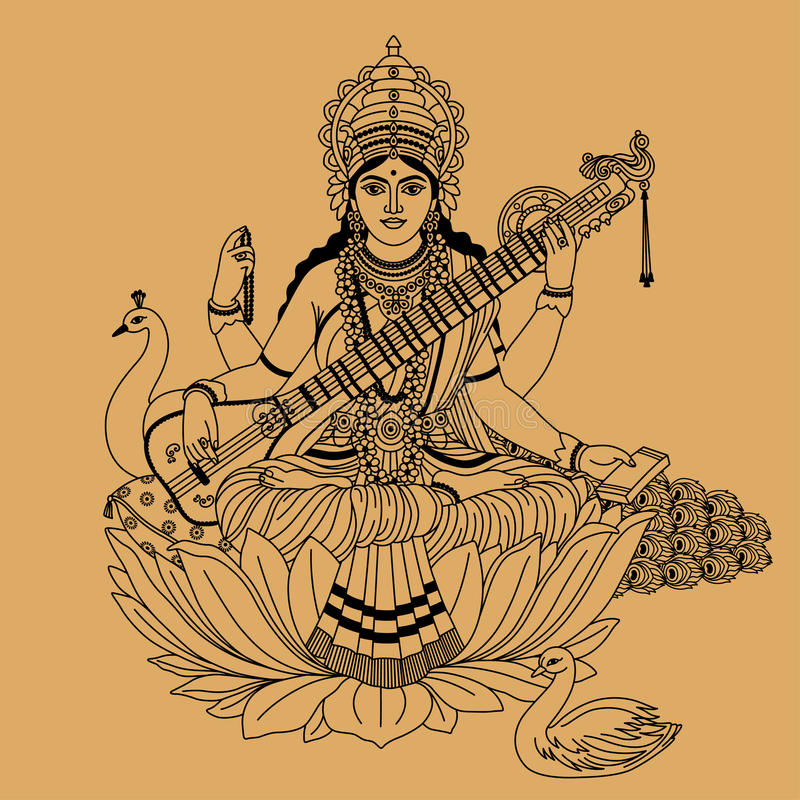 Deusa Hindu ilustração do vetor