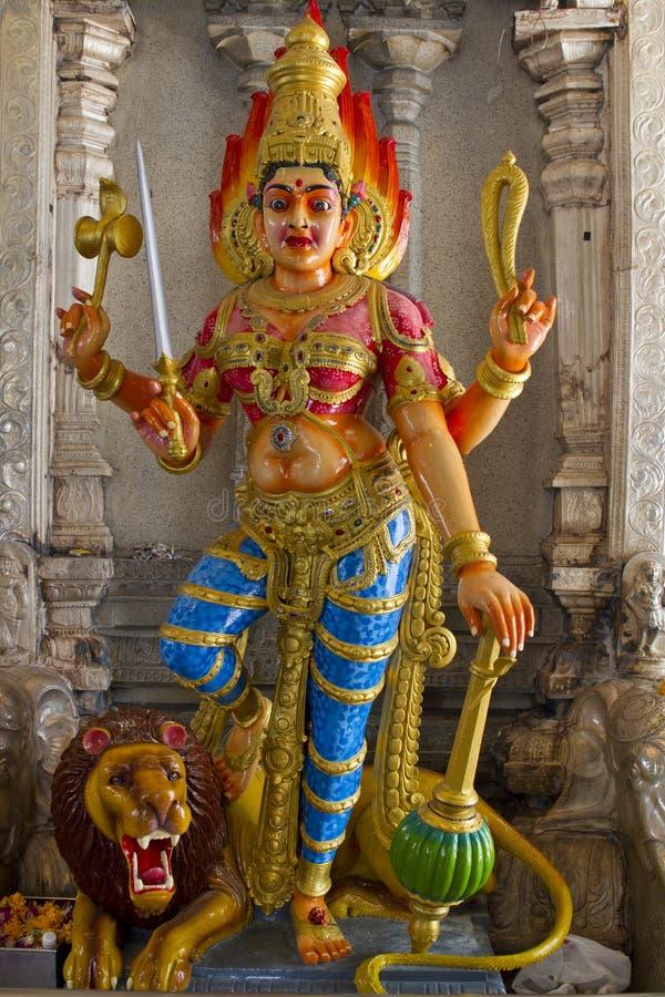 Deusa Hindu Durga no leão fotos de stock royalty free