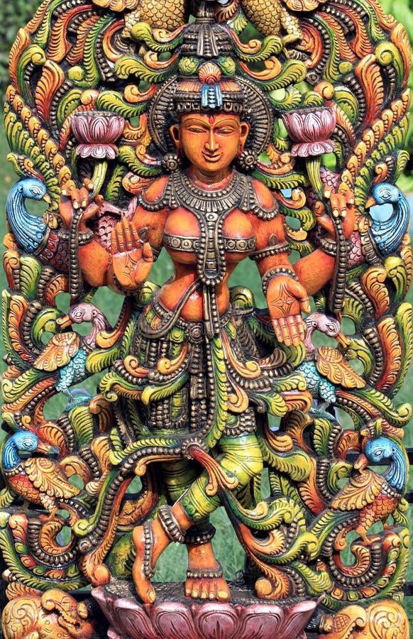 Deusa Hindu Lakshmi imagem de stock