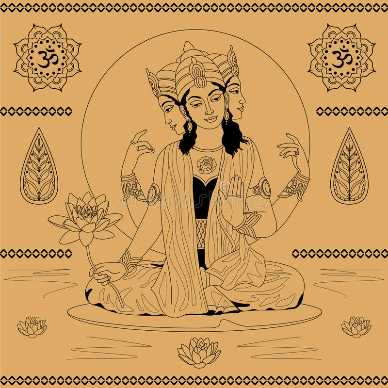Deusa indiana ilustração stock
