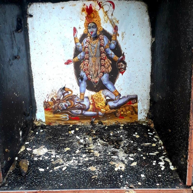 Deusa Kali imagens de stock