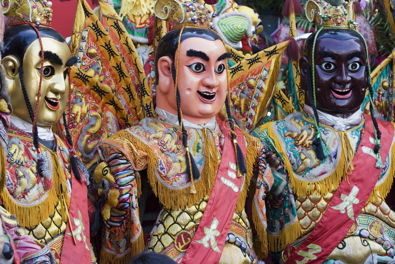 Deuses chineses fotografia de stock