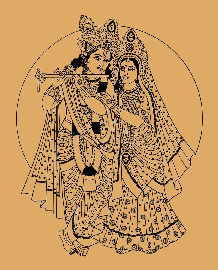 Deuses indianos ilustração royalty free