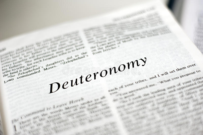 Deuteronomy书  图库摄影