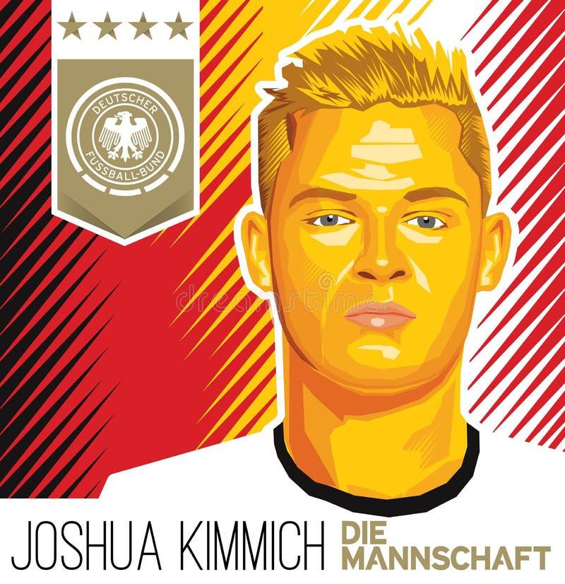 Deutsch-Fußballstar JOSHUAS KIMMICH stockfoto
