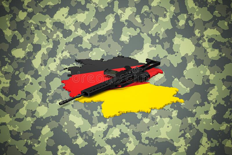 Deutsch 5 56 x 45 mm Sturmrifleon Camouflage Hintergrund lizenzfreie stockfotos