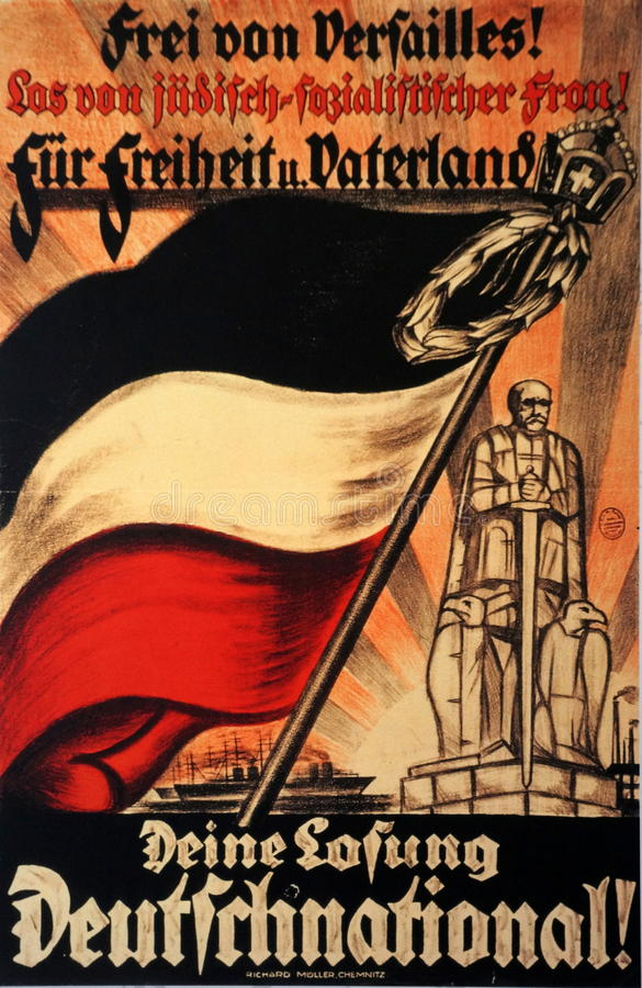 Deutsch-Wahl-Plakat 1924 stockfotos