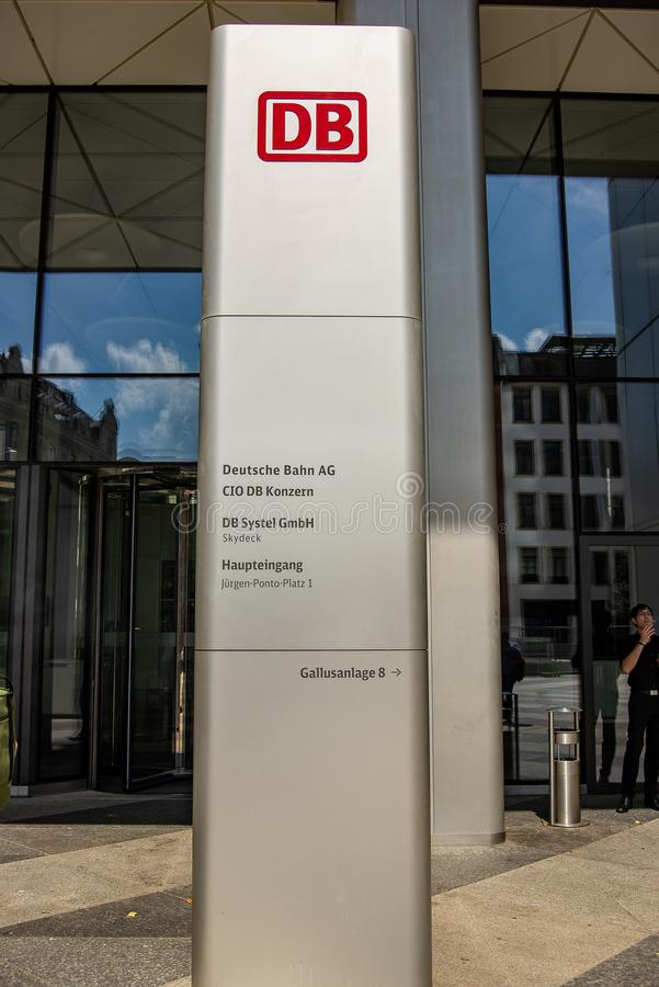 Deutsche Bahn Hauptsitze lizenzfreies stockfoto