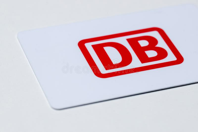 Deutsche bahn logo sign card in siegen germany stock photography