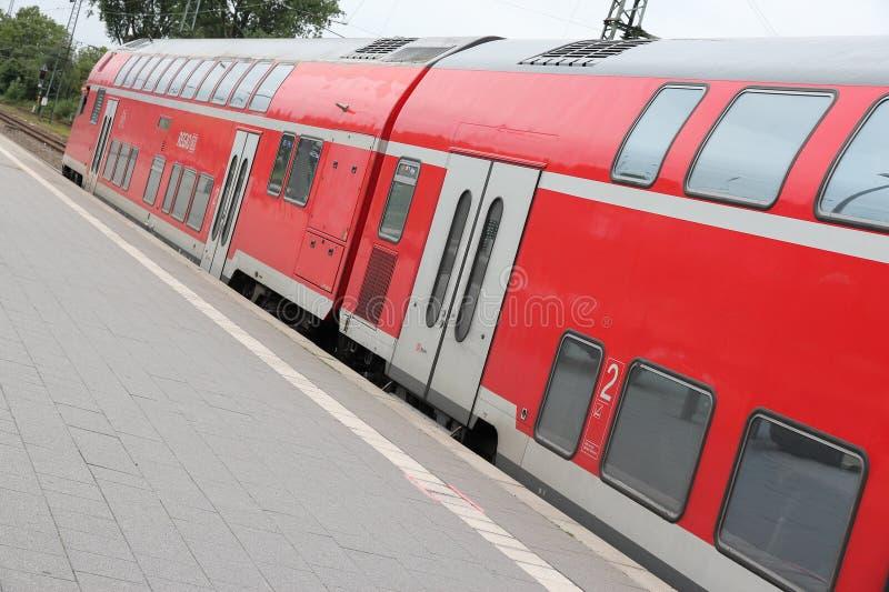 Deutsche Bahn pociąg zdjęcie royalty free