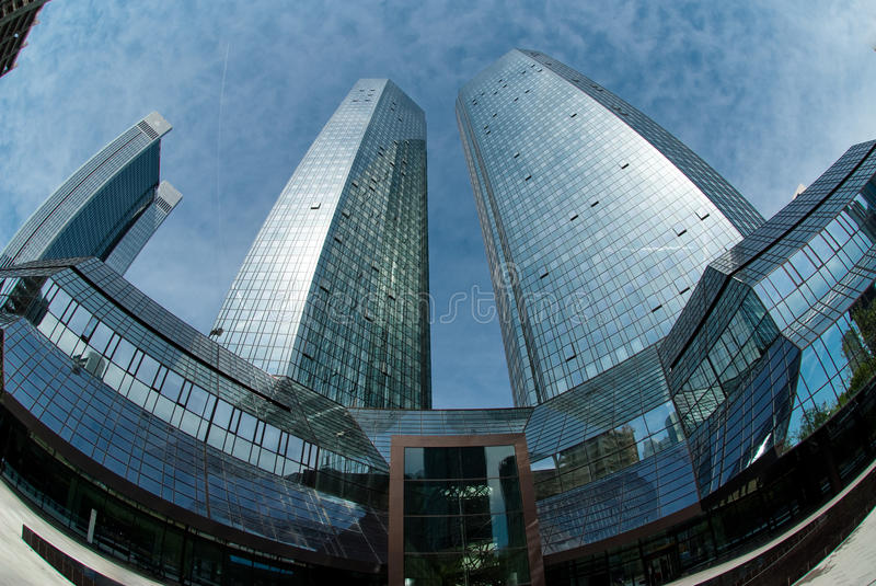 The Deutsche Bank Building royalty free stock photography