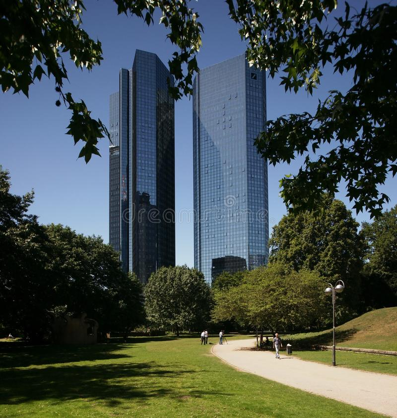 Deutsche Bank Francoforte fotografia de stock