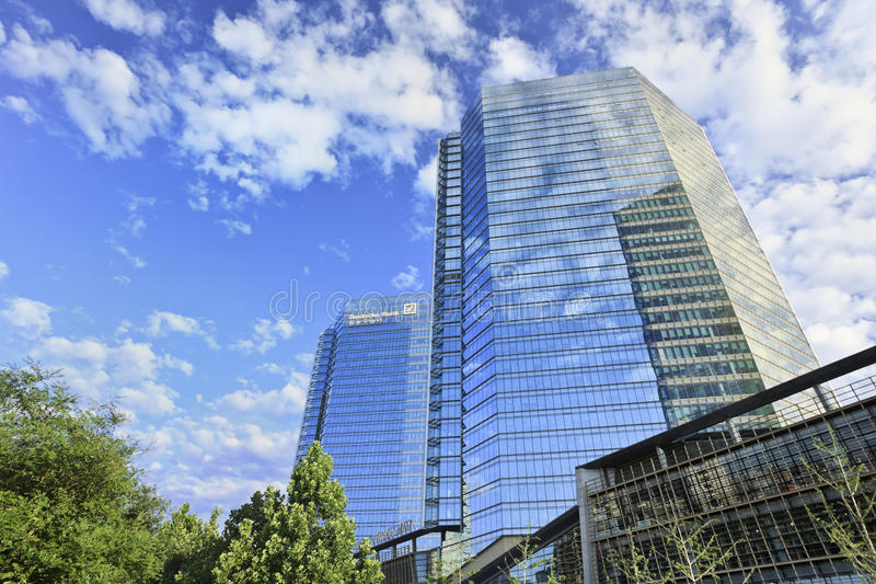 Deutsche Bank headquarters, Beijing, China stock photos
