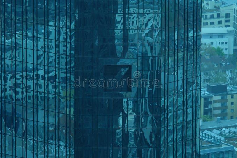 Deutsche Bank Logo Arial View en Francfort fotos de archivo libres de regalías