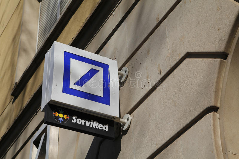 Deutsche bank logo royalty free stock image