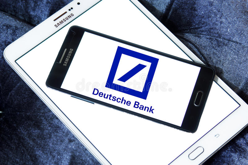 Deutsche bank logo stock image