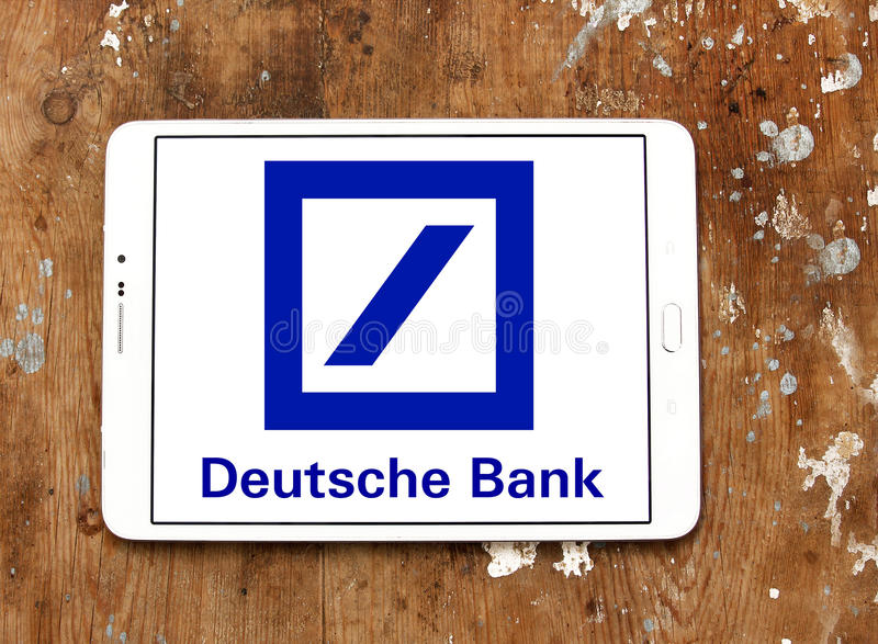 Deutsche bank logo stock photography